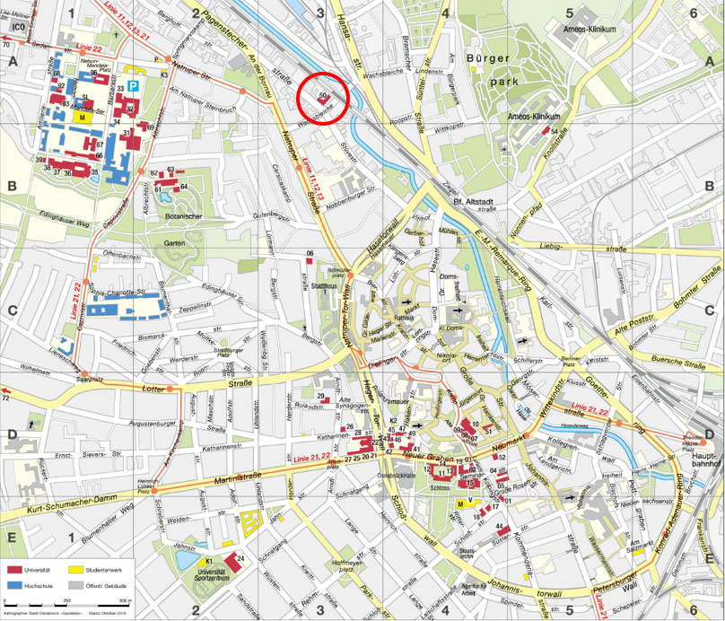 Travel Information and Map Osnabrck University
